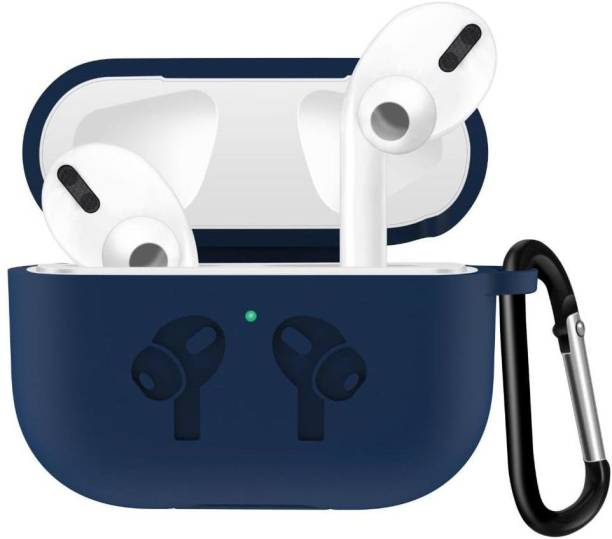 Telca Pouch for Apple AirPods Pro , Soft Silicon Royal Blue Case With Hinges And Clip Airpods Pro Case Cover