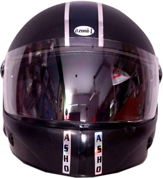 azone1 CHROME ECO FULL FACE Motorsports Helmet (Black) Pack of 1 Motorbike Helmet