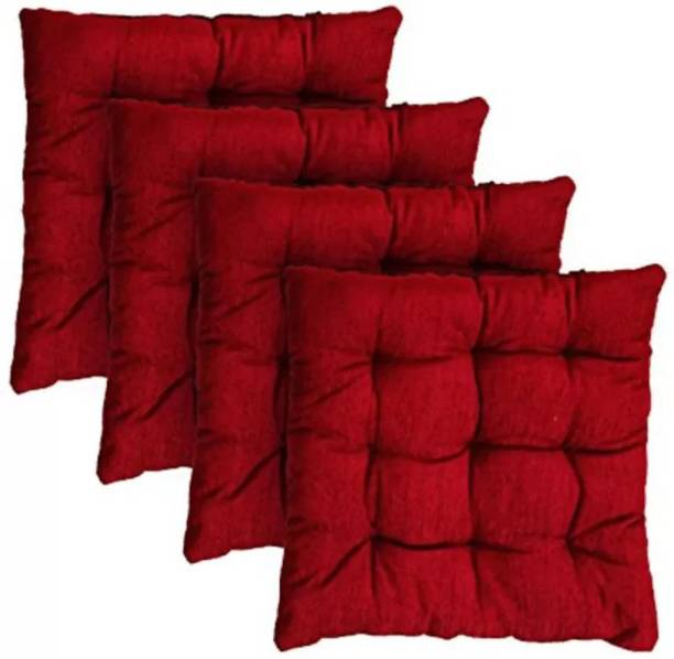 FAJAL COTTON UDHYOG LUXUARY 18*4 Microfibre Solid Cushion Pack of 4
