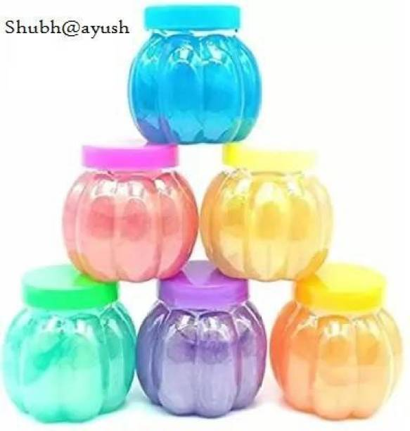 SHUBH@AYUSH Soft and Non-Sticky Slime with Fruit Fragrance Set of 6 Multicolor Putty Toy Multicolor Putty Toy
