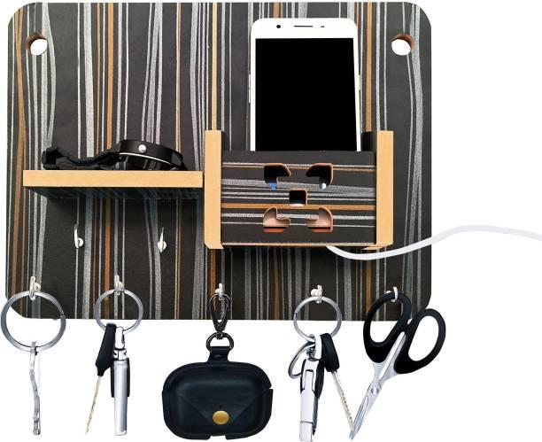 LINGAZ WALL-STAND-BLACK Wood Key Holder
