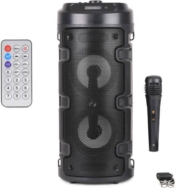 TECHEL 67 _RT_PODS- Powerpect sound Wireless Bluetooth Super Bass Portable Party Speaker with RGB Lights, Wireless Mic, Remote Control, FM Radio & Aux in/USB/TF Card Reader Input 20 W Bluetooth Speaker 56 W Bluetooth PA Speaker