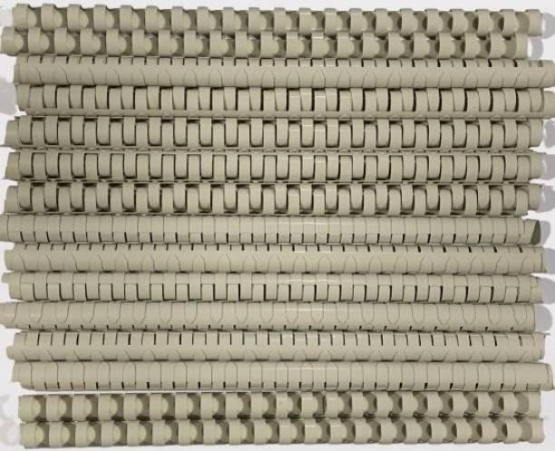 SOFTEK 16MM Binding Combs-Grey Colour PACK OF-50nos Manual Comb Binder