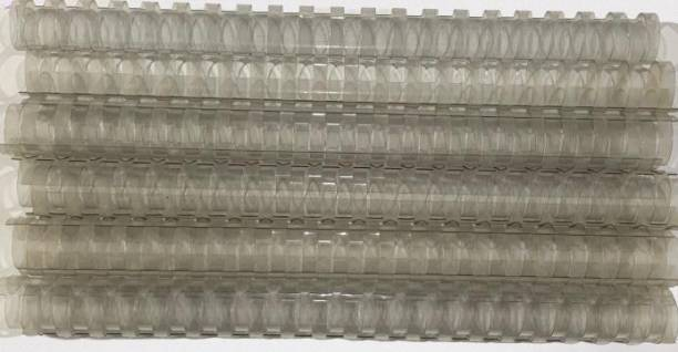 SOFTEK 22MM Binding Combs-Transparent Colour PACK OF-50nos Manual Comb Binder