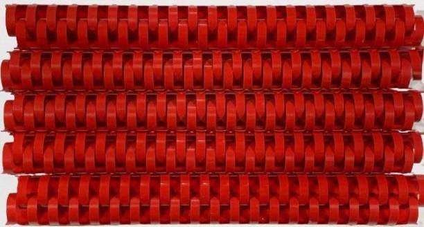 SOFTEK 22MM Binding Combs-Red Colour PACK OF-50nos Manual Comb Binder