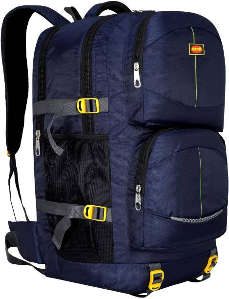 RIDA Lightweight Waterproof Hiking Backpack with Wet Pocket Handy Foldable Bag-NavyBlue