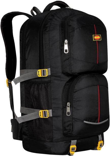RIDA Lightweight Waterproof Hiking Backpack with Wet Pocket Handy Foldable Bag-Black