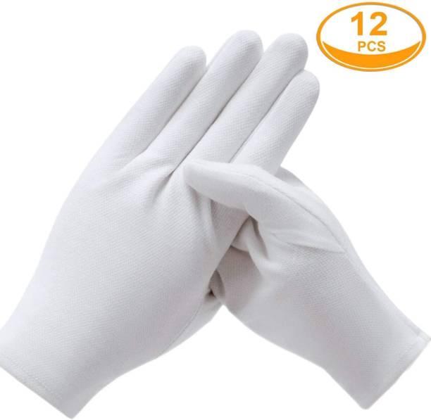 RBSOCK Cotton Hand Gloves Pack of 12 Pic Or 6 PAir Inner Gloves Inner Gloves