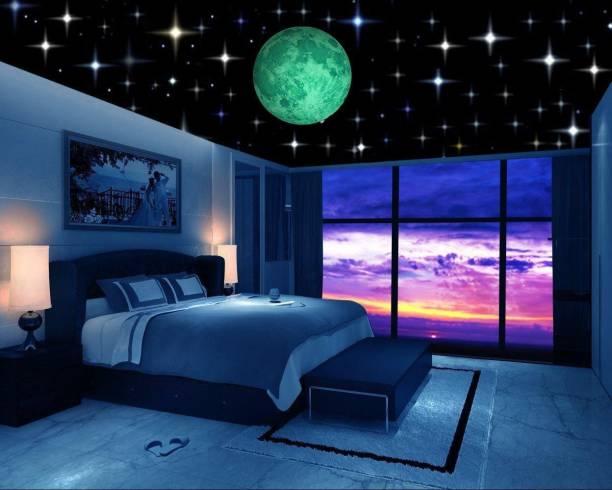 Flipkart SmartBuy Medium Glow in the Dark Galaxy of Stars with Moon Radium Night