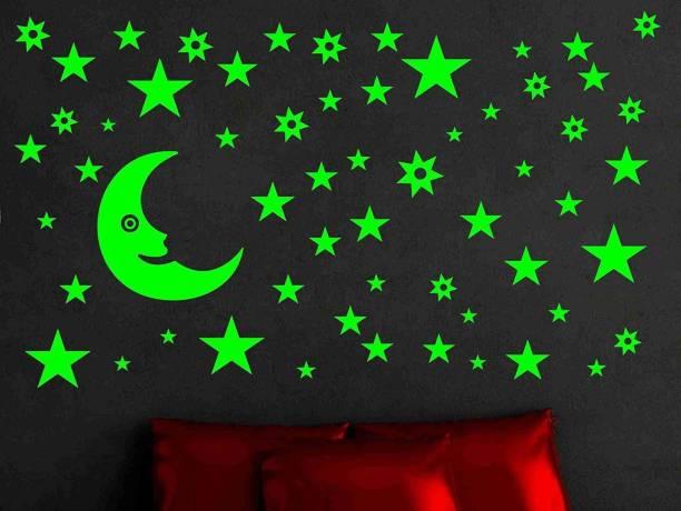 Flipkart SmartBuy Medium Glow in The Dark Galaxy of Stars and Moon Radium Night