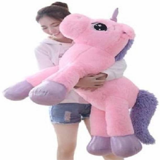 emutz Big Size Funny Unicorn Stuffed Animal Plush Toy, 100 CM (Pink)  - 100 cm