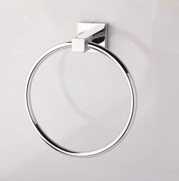 Excellent Crosslink Stainless Steel 304 Grade Squaro Napkin Ring/Towel Ring/Napkin Holder/Towel Hanger/Bathroom Accessories(Chrome) - Pack of 1 Chrome Towel Holder