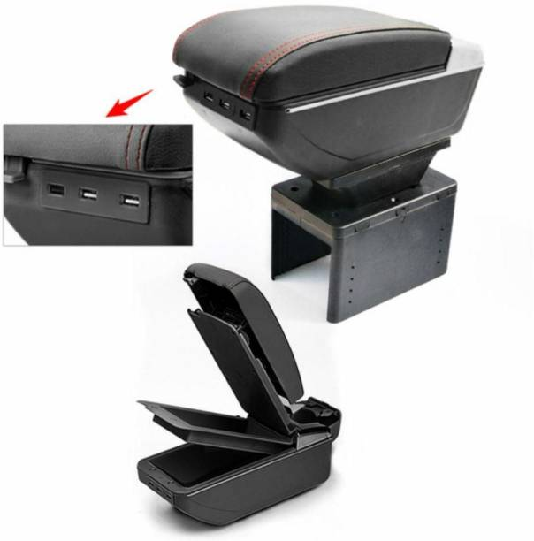 Auto Car Winner High-End Console With 7 USB Charging Ports Black Car Armrest