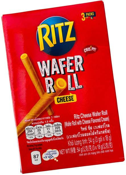 Ritz Cheese Wafer Roll Imported 54g Wafer Rolls