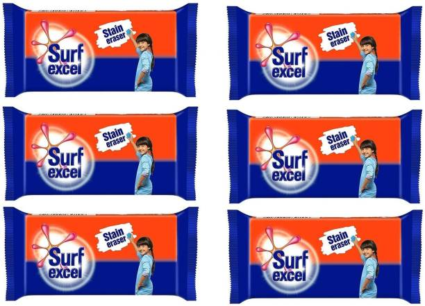 Surf excel Stain Remover (Pack of 06) Detergent Bar