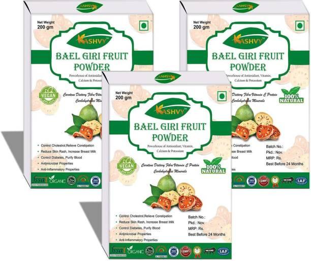 Kashvy Pure OrganicAyurvedic Bael Powder (Baelgiri/Wood Apple/Belgiri/Aegle Marmelos/Bael Phal) 200 gm