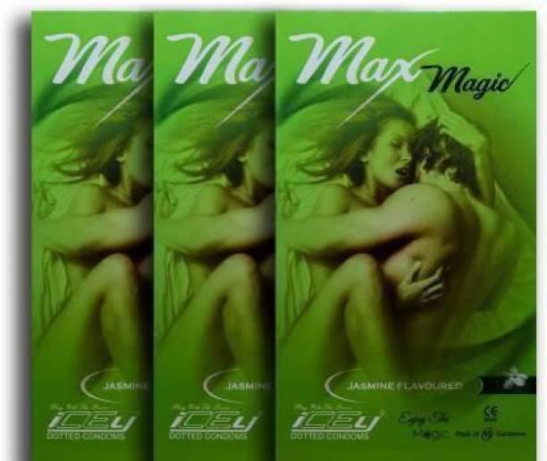 MAX MAGIC JASMINE FLAVOURED 3 X10 = 30 PIECE Condom (Set of 3, 10S) Condom