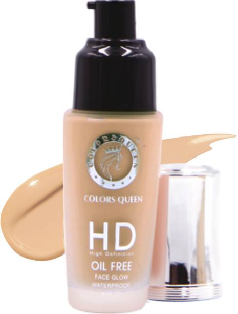COLORS QUEEN HD Foundation Oil Free Face Glow 24 Hrs Moisturization Foundation