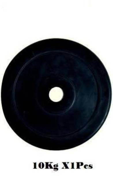 Ardino 10Kg Good Quality Rubber Plate For Home/Commercial Gym Black Weight Plate