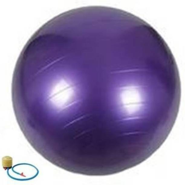 labh traders Anti-Burst Yoga Exercise Gym Ball with Foot Pump (75 cm) Gym Ball