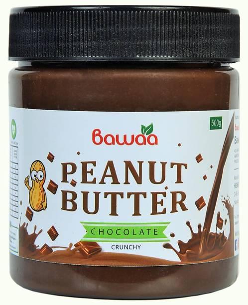 bawaa Chocolate Peanut Butter (Crunchy) 500 g