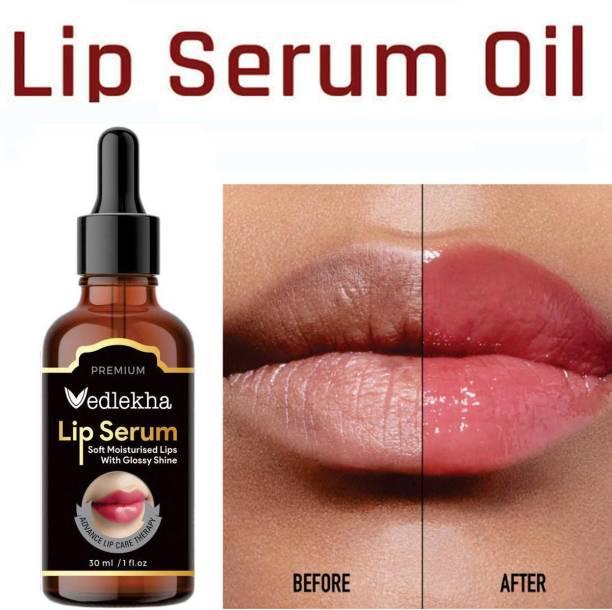 Vedlekha Premium Lip Serum Oil For Glossy & Shiny Lips with moisturisation effet- For Men and Women - strawberry