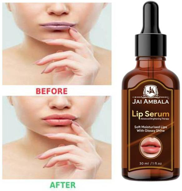 Jai Ambala Premium Lip Serum Oil For Glossy & Shiny Lips with moisturisation effet- For Men and Women - strawberry