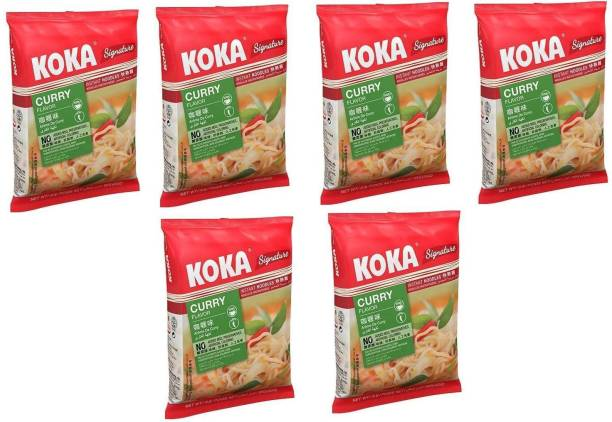 KOKA Curry Flavour Instant Noodles (Imported) -(Pack of 5) Instant Noodles Non-vegetarian