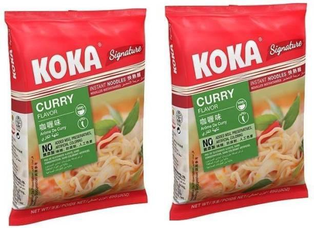 KOKA Curry Flavour Instant Noodles -(Pack of 2) Instant Noodles Vegetarian