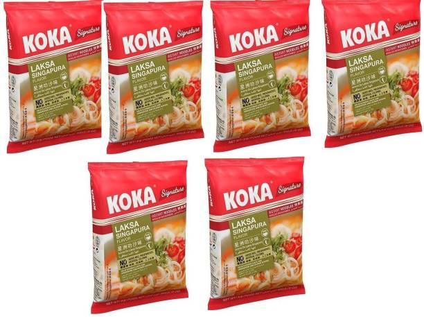 KOKA Laksa Singapura Flavour Instant Noodles -(Pack of 6) Instant Noodles Non-vegetarian