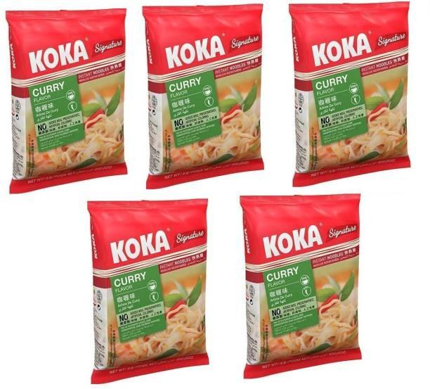 KOKA Curry Flavour Instant Noodles -(Pack of 5) Instant Noodles Vegetarian