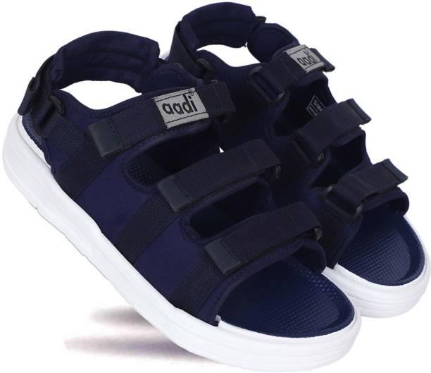 aadi Men Blue, Black Sandals