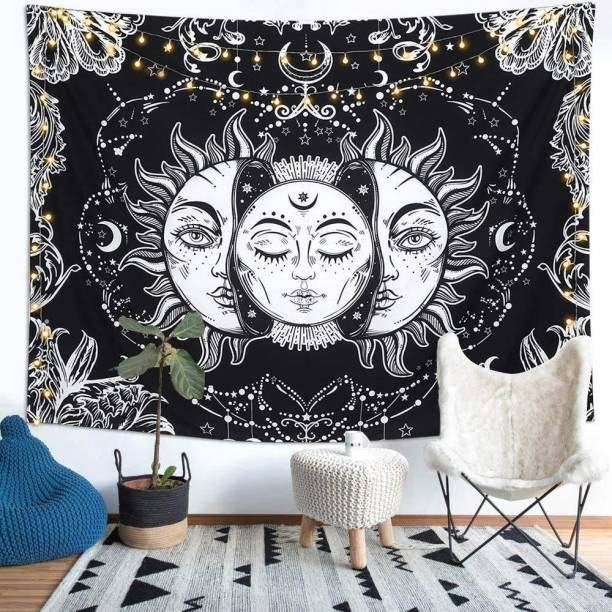 Heyrumbh Handicrafts Tarot Sun Moon Start Wall Hanging, Beach Throw, Bedsheet, Table Cover, 54 X 84 Tarot Sun Moon Start Wall Hanging, Beach Throw, Bedsheet, Table Cover, 54 X 84 Tapestry