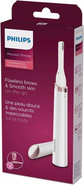 PHILIPS Precision Trimmer For Eyebrows, Facial Grooming  Runtime: 60 min Trimmer for Women