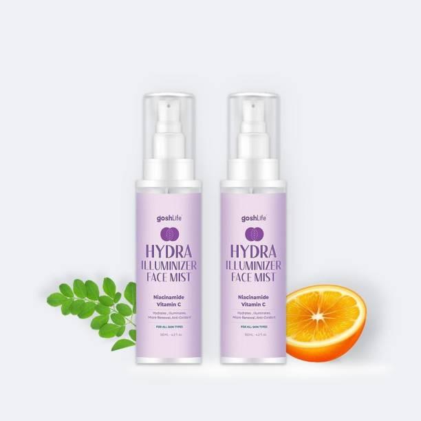GoshLife Hydra Illuminizer Face Mist with Vitamin C, Men & Women