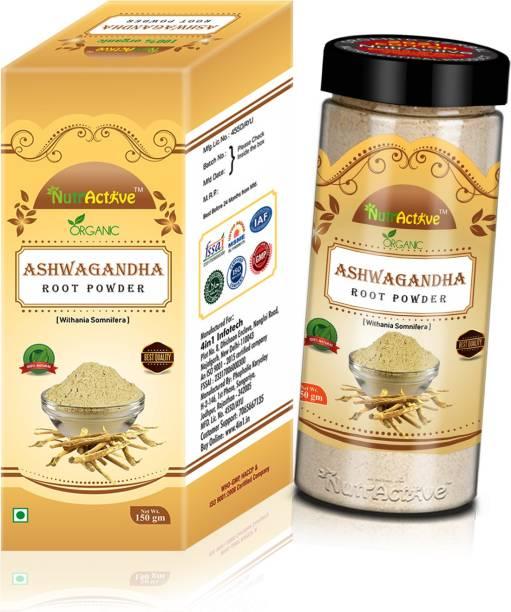 Rawmest Organic Ashwagandha Herbal Powder for Boosting Immunity (150 Gram) - USDA Organic Certified - Withania Somnifa