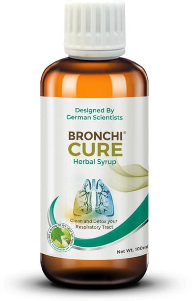 GREEN CURE Bronchicure Herbal Lung Care syrup Respiratory Wellnness with Ivy Leaf and Thyme Fluid | Paraben & EDTA Free | German Science with Indian Ayurveda
