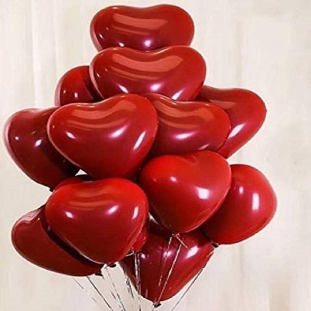 BBS DEAL Solid New Solid Red Heart Shape Balloons Balloon cfg4 Balloon
