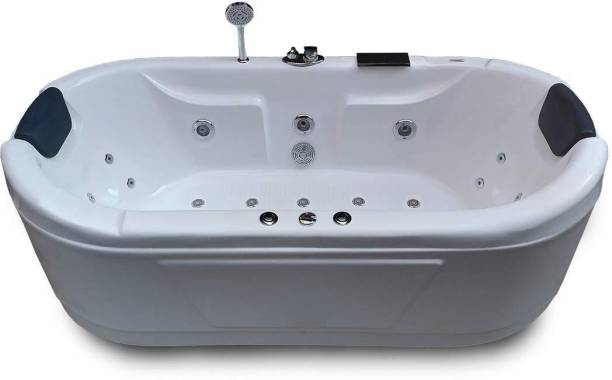 MADONNA 6 Feet Rectangular Acrylic Bathtub for Adults(Back Massager) - white Undermount Bathtub