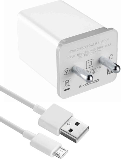 Shopsji USB 2.0 Fast Charger with Charge & Sync USB Cable 2 A Multiport Mobile Charger with Detachable Cable