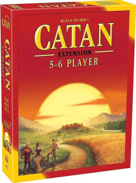 KIDAKING Catan 5-6 Player Extension 5th Edition,Board Game,Card Game,for Family,Friends,Kids,Children (Multicolor) Strategy & War Games Board Game