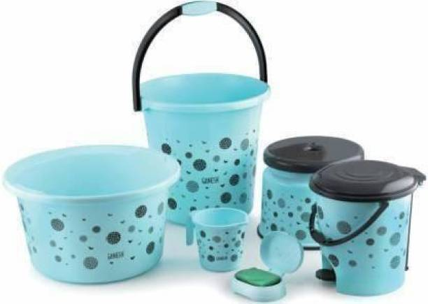 mahavir Eco products Bathroom Set Combo With 20L Bucket and Accessories Multicolour Plastic 20 L Plastic Bucket 20 L Plastic Bucket