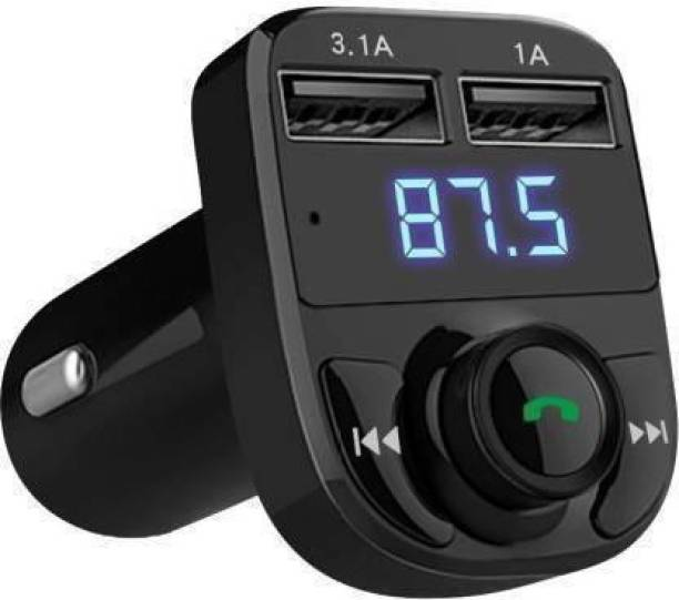 OSNA v4.0 Car Bluetooth Device with FM Transmitter, Car Charger, Audio Receiver, MP3 Player, FM Player