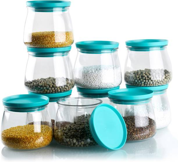 SPEACK Woman's 1st Choice New Premium Quality Unbreakable Airtight Transparent Jar / Grocery Container / Storage Container / Container sets / Storage Jar / Containers Combo / Masala Boxes / Freezer Safe Idle for Kitchen Storage Box / Container For Tea, Coffee, Sugar, Food, Grain, Rice, Pasta, Pulses, Spices Container Set  - 800 ml Plastic Grocery Container