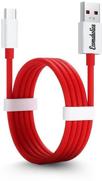 Ecomaholics Round Data USB Type-C Fast Quick Charging Sync Cable Cord 1 m USB Type C Cable