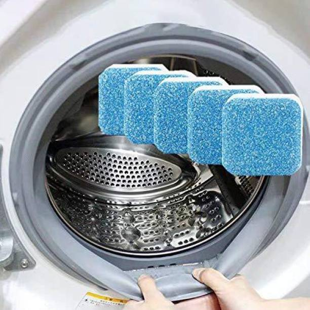 LOYZO 5Psc Washing Machine Stain Tank Cleaner Deep Cleaning Detergent Tablet for Perfectly Cleaning of Tub/Drum Stain Remover. Detergent Powder 5 g