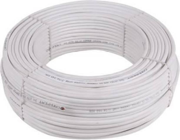 Neoware CCTV Wire Cable 3+1 Full Copper, Breding Alloy Mic Complete Video Transfer White 90 m Wire