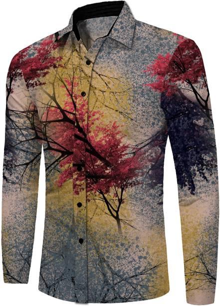 sat shree fab Cotton Polyester Blend Printed Shirt Fabric