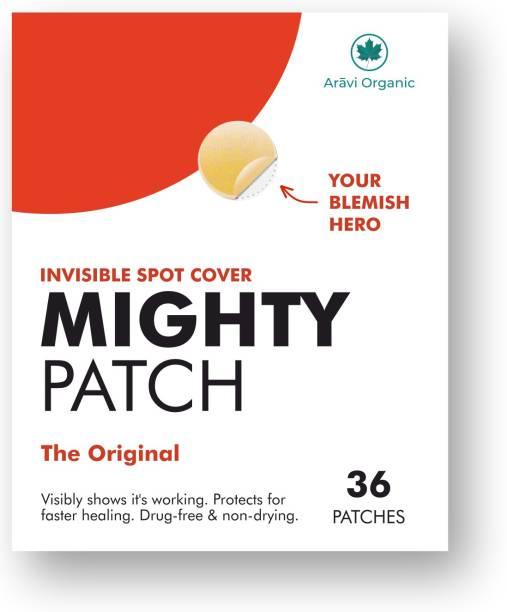 Aravi Organic Original - Hydrocolloid Acne Pimple Patch For Face | Spot Treatment for Women/Men, Vegan, Cruelty-Free