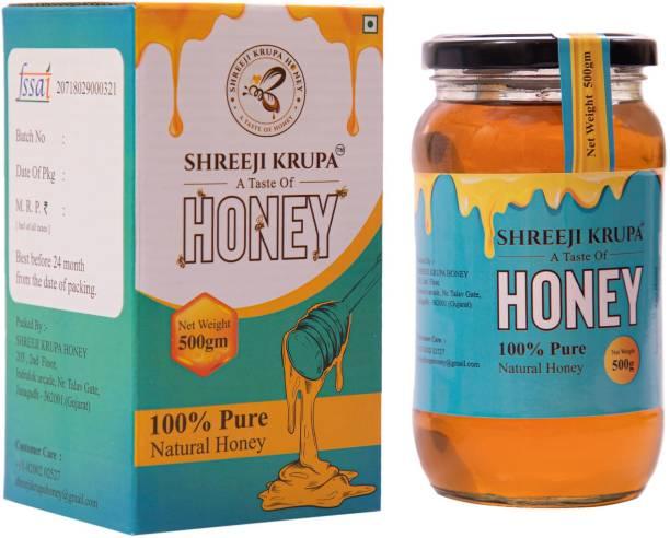 Shreeji krupa NATURAL HONEY | 100 % Pure Organic & PREMIUM QUALITY from (Gir Forest)